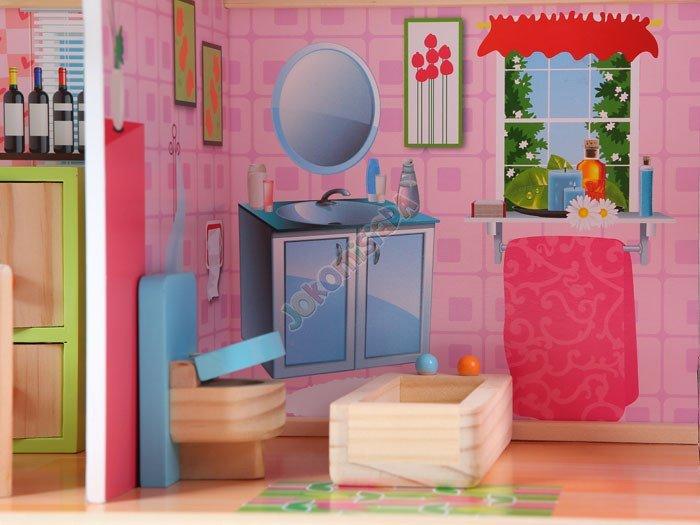 HIT! Drewniany DOMEK dla lalek + wyposażenie (5257250836)  Allegro pl  Więc  -> Allegro Kuchnie Drewniane Dla Dzieci