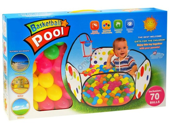 Dry pool Playpen with a basket of + 70 balls ZA1791