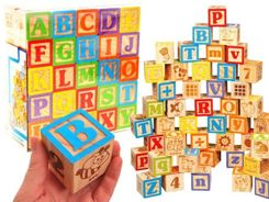 ABC wooden alphabet blocks 50 blocks ZA1807