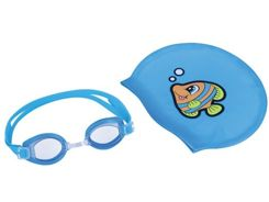 Bestway cap set of goggles for swimming 26026