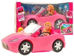 Big Auto for Doll Pink Convertible + doll ZA0757