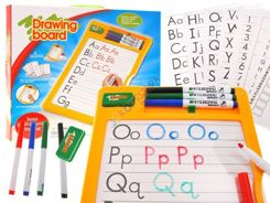 Blackboard with pen learning to write LETTERS TA0063