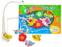 Colourful carousel + plush butterflies ZA0823