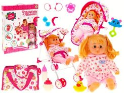 Doll speaks Polish + stroller and car seat set 10in1 ZA1409