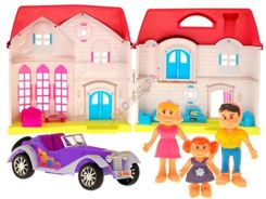 Family house with furniture and a car for dolls ZA1217