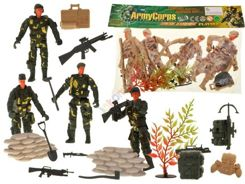 Figurines soldiers 4 pcs. Soldiers of the army FOR 1242