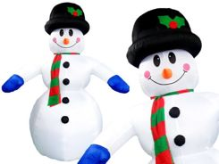 GREAT puffed Winter Snowman 350 cm DS0012