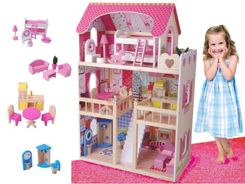 Great Wooden Doll HOUSE + FREE ZA0945