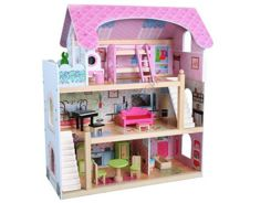 HOUSE Wooden doll + dolls + furniture ZA1004