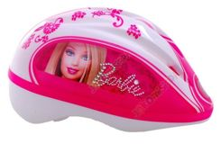 Helmet Barbie with diamonds on the bike roller skates SP0032