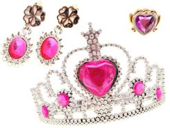 Jewelry for the princess crown + earrings ZA1094