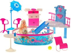 Lovely pool dolls + doll slide ZA0844