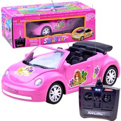 PINK CONVERTIBLE CAR Beetle Beetle R / C RC0026