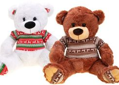 Plush Mascot TEDDY in a sweater ZA1835