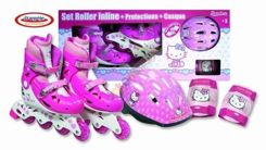 Set ROLLS-HELMET-GUARDS Hello Kitty 30-33