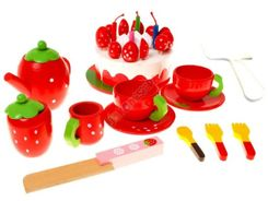 Strawberry cake trunk wooden utensils ZA0922