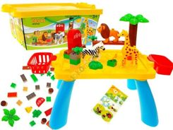 Toys colorful zoo box 37pcs small table. FOR 1225
