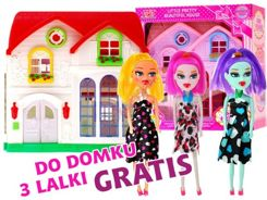 Two-storey HOUSE + free 3 dolls ZA0622