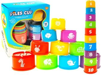 Cups colored pyramid cups to 10 cups ZA1709