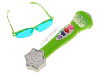 Microphone Karaoke Theme Song + glasses IN0047