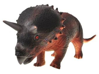 Rubber Triceratops DINOSAUR with sound ZA0851