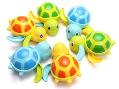 Turtle wound up bath toy water ZA1189