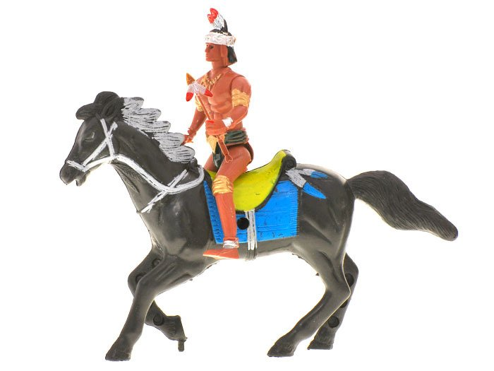 Horse Toys For Boys : Indian figurine horse bar wild west za toys