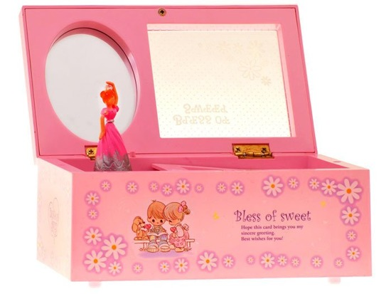 Adorable Casket for jewelry with music ZA0866