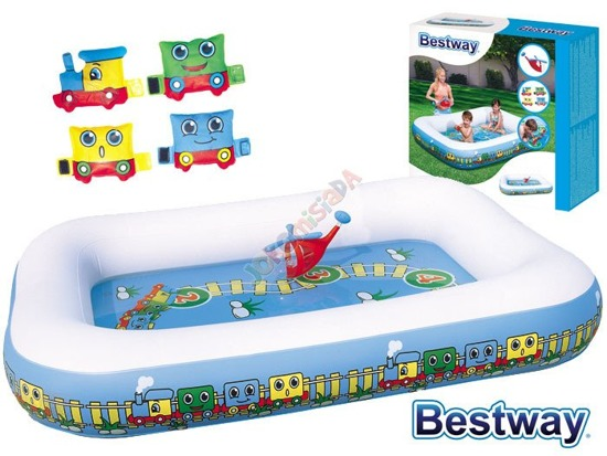 Bestway inflatable paddling pool + train 201 cm 54109