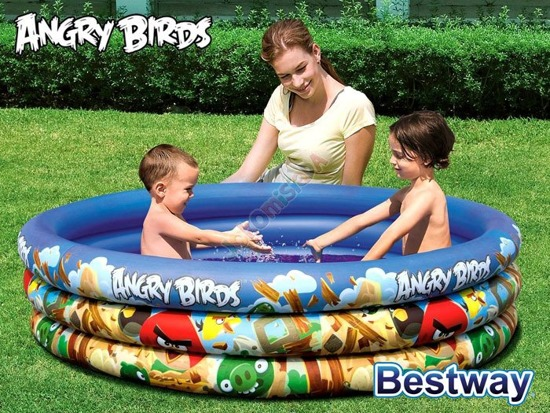 Bestway inflatable pool Angry Birds 152 x 30cm 96108B