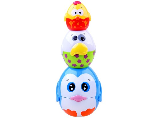 Colorful pyramid puzzle egg ZA1151