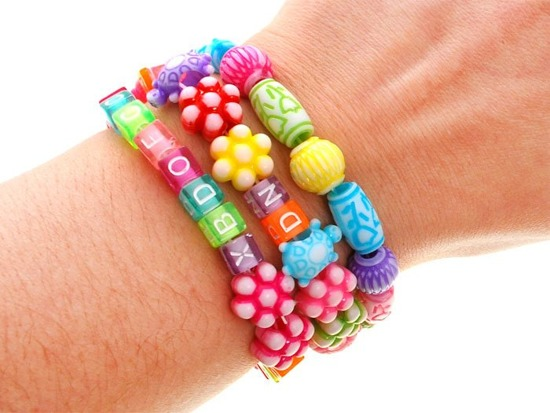 Coloured Beads letters make bracelets ZA1773
