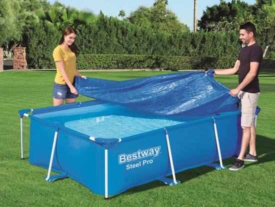 Cover the pool frame. 300 x 201 cm Bestway 58106
