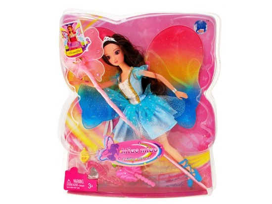 Doll fairy with magic wand and wings ZA0634