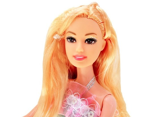 Doll with long blond hair type Barbie 30cm ZA1833