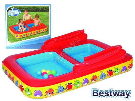 Dual paddling pool with balls - inflatable playground Bestway 52178