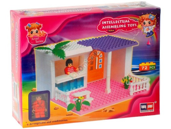 EDUCATIONAL BLOCKS cottage 72 pcs. ZA0734