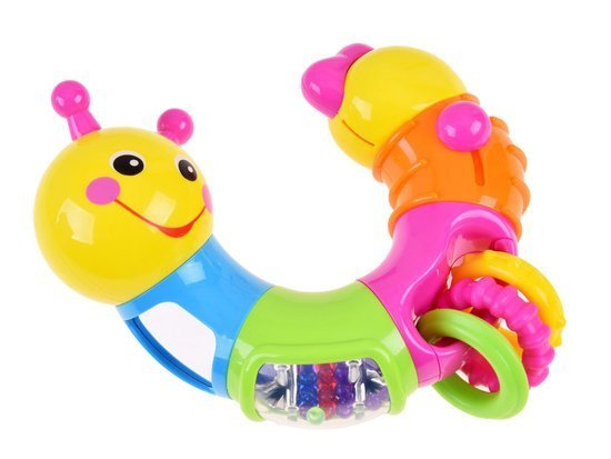 EDUCATIONAL, colorful caterpillar rattle-ZA0030