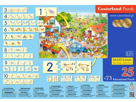 Educational puzzle Counting on a farm CA0023
