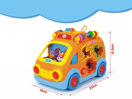 Fun Bus with blocks toy car auto sorter ZA0650