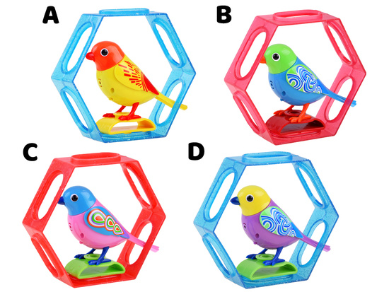 INTERACTIVE singing bird in the frame ZA1236