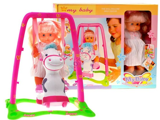 Interactive cheerful doll + horse swing ZA0918