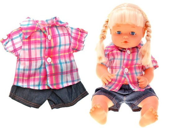 Interactive doll with clothes ZA 1663