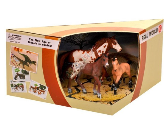 Ponies set of hand-painted horse figurines ZA0793