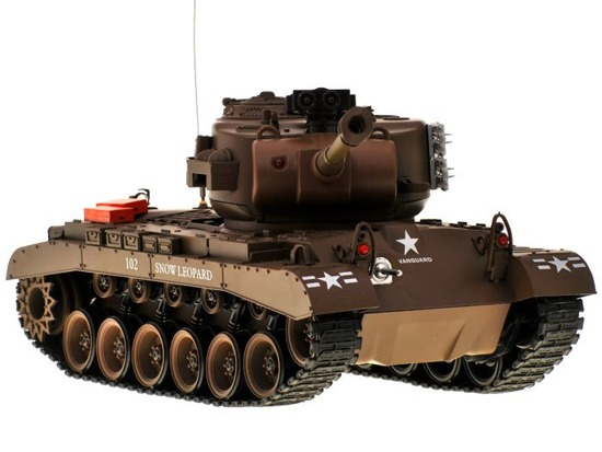 REALISTIC MILITARY LEOPARD TANK shoots RC0252