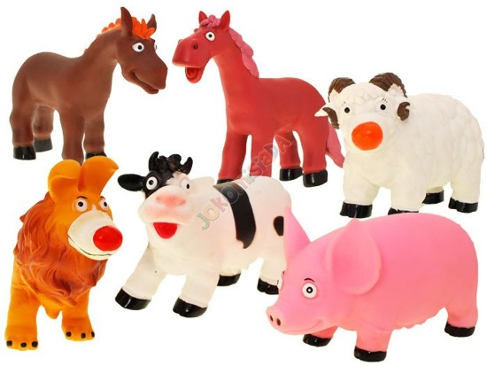 Rubber animals cow horse pig sheep ZA1470