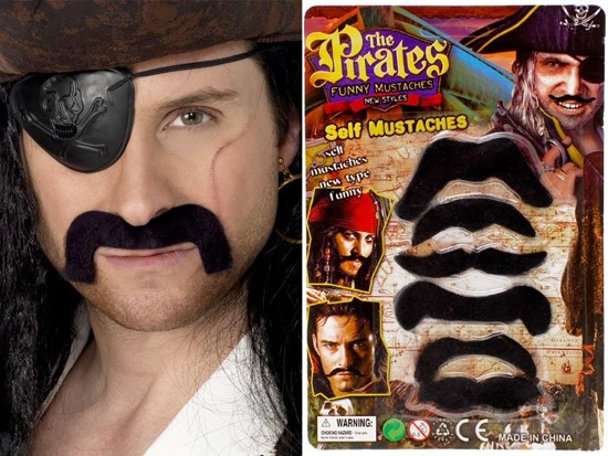 Self-adhesive mustache FOR PIRATE ZA0662