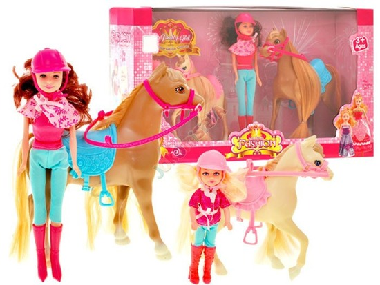 Set of 2 x pony + 2 dolls ZA1364