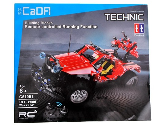 Technical Blocks Toy build on the pilot EE RC0362
