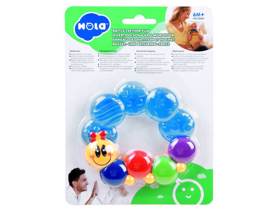 Teether for baby caterpillar TEETHING ZA0635